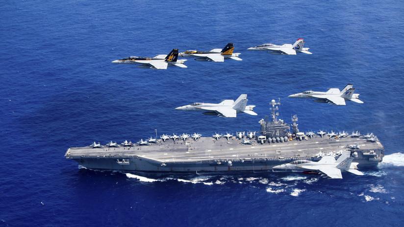 WSJ: EE.UU. envía un portaaviones nuclear al golfo Pérsico para demostrar su poder a Irán