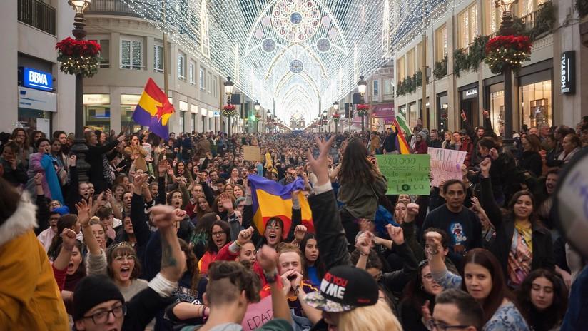 VIDEO, FOTOS: Manifestaciones en Andalucía contra el auge electoral de la ultraderecha