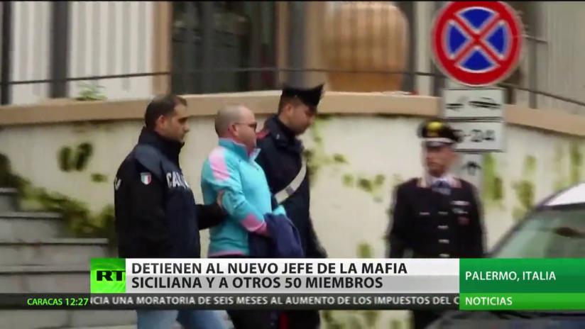 Italia: Detienen a supuesto jefe y a otros 50 miembros de la mafia siciliana