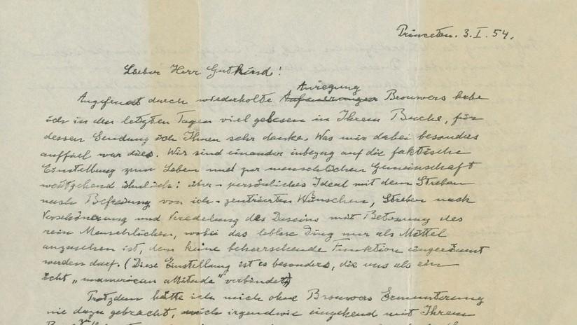 La 'Carta de Dios' de Einstein es subastada por 2,8 millones de dólares