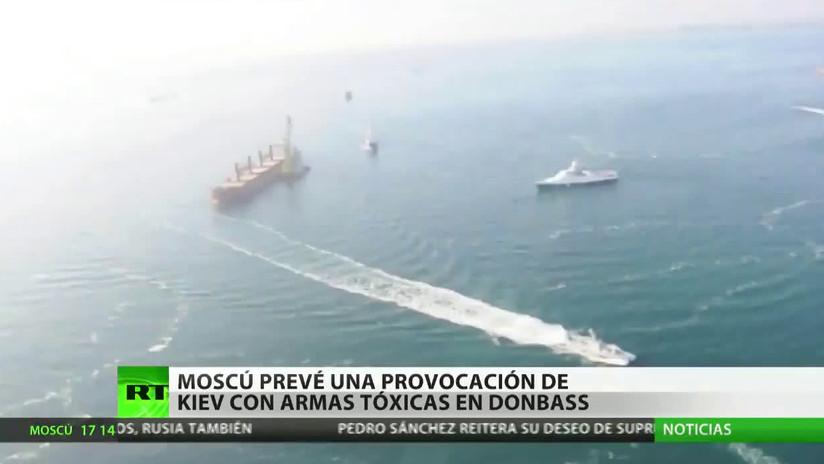 Moscú prevé una provocación de Ucrania con sustancias tóxicas en Donbass