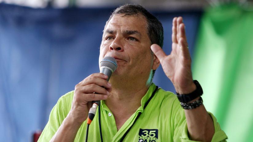 """""""Todo fue un fraude"""": Correa sobre negativa de la Interpol de emitir difusión roja en su contra"""