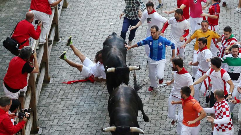 Una brutal corneada marca otra jornada sangrienta durante una festividad taurina en España