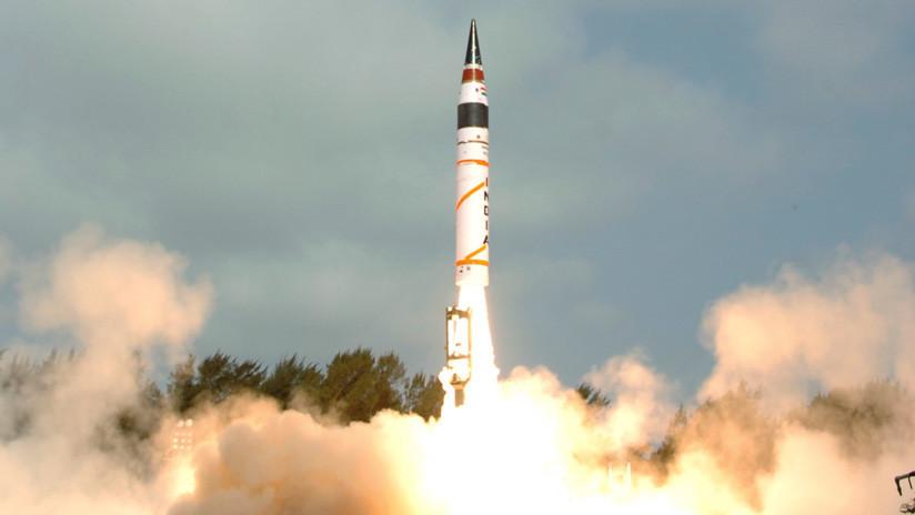 India prueba su misil balístico intercontinental Agni-5 con capacidad nuclear