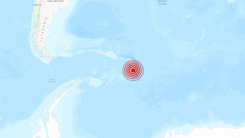 Sismo sacudió al Atlántico Sur, cerca de la Antártica chilena