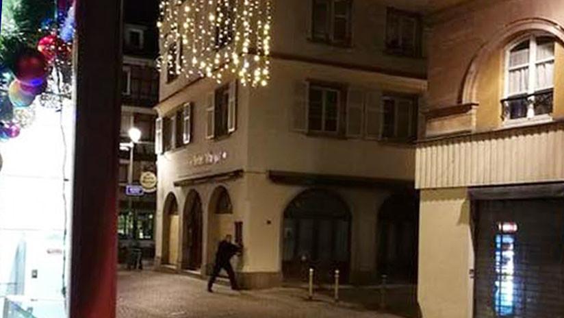 PRIMERAS IMÁGENES: Pánico tras el tiroteo mortal en Estrasburgo