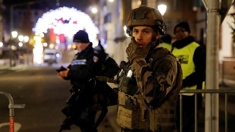 Tiroteo en Estrasburgo: Policía localiza al atacante atrincherado en una calle