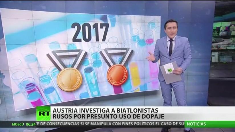 Austria investiga a biatlonistas rusos por presunto dopaje