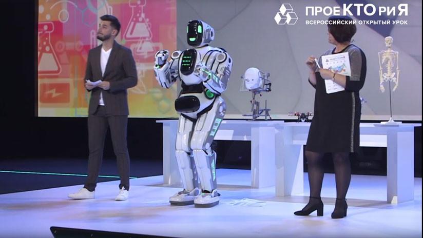 Robot presentado por la televisión rusa resultó ser un hombre disfrazado