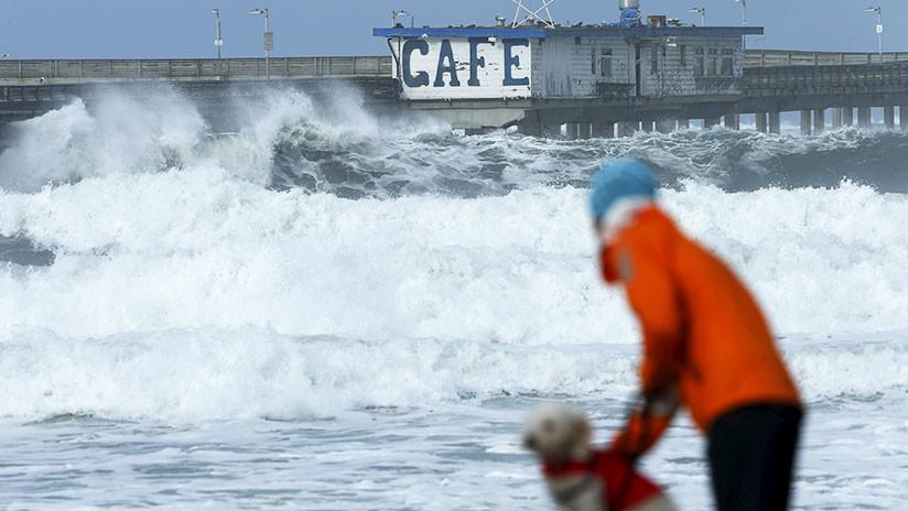 """""""No vayan a la playa, no pisen la arena"""": Advierten sobre olas """"mortales"""" de 15 metros en California"""