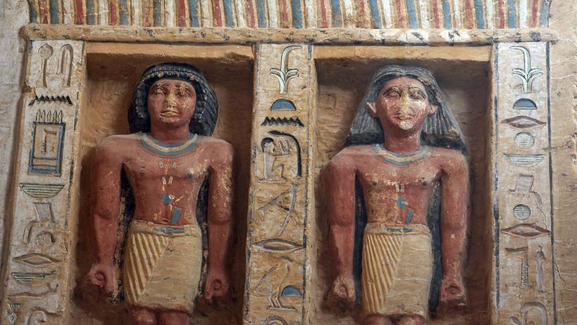 Encuentran en Egipto hermosa tumba 'unica'