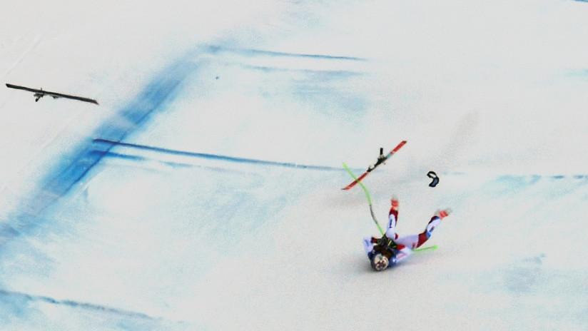 VIDEO: La brutal caída del esquiador suizo Marc Gisin en una prueba de la Copa del Mundo