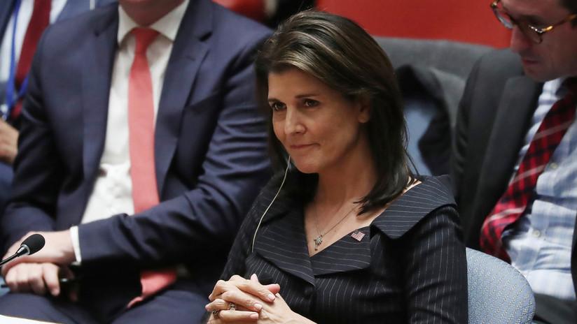 """Haley afirma que el plan de paz tildado por Abbás de """"bofetada del siglo"""" beneficia más a Palestina"""