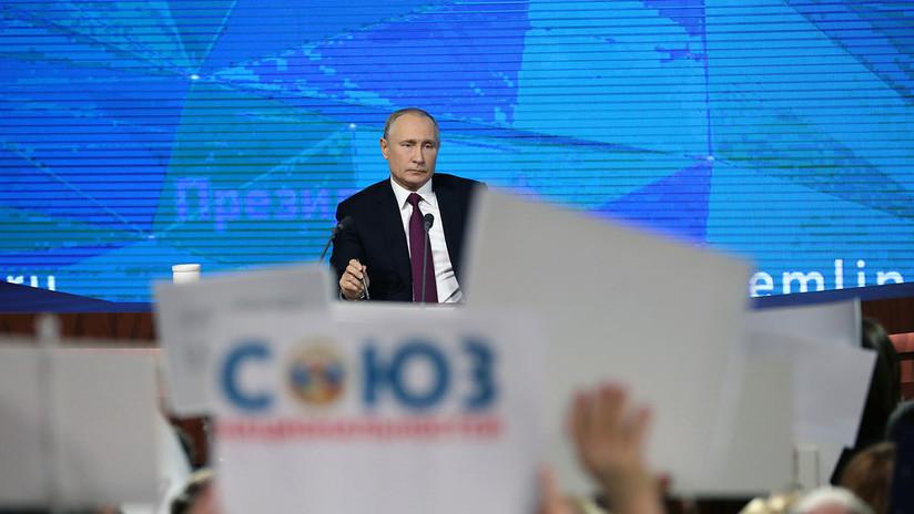 Número récord de periodistas: Putin aborda temas de actualidad en su gran rueda de prensa anual