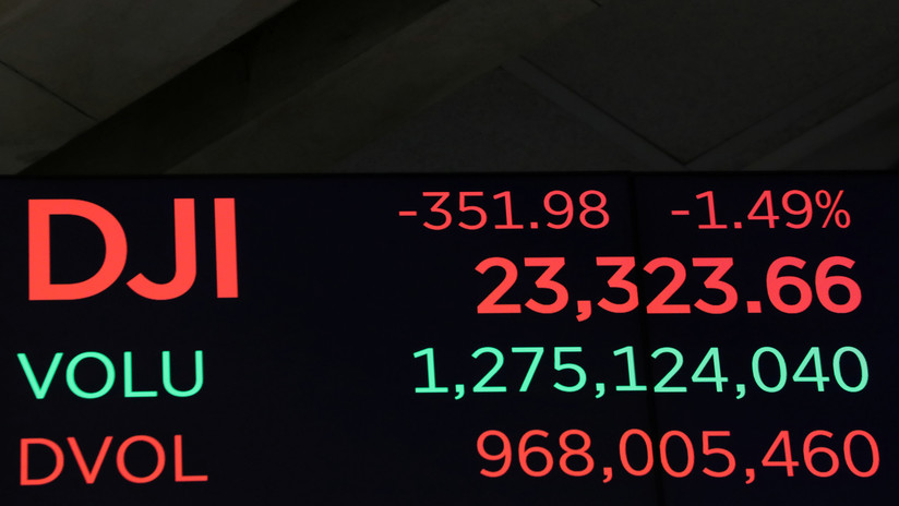 El Dow Jones prosigue su caída y pierde 1.600 puntos esta semana