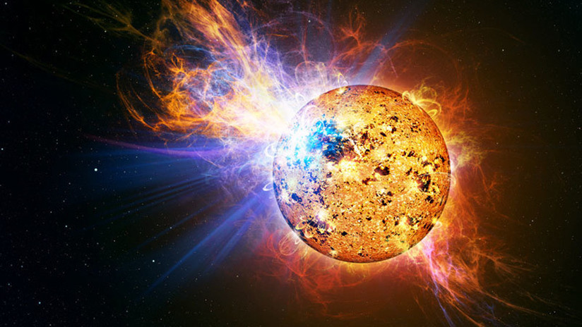 Hallan una estrella bebé que emite una llamarada 10.000 veces más potente de la del Sol