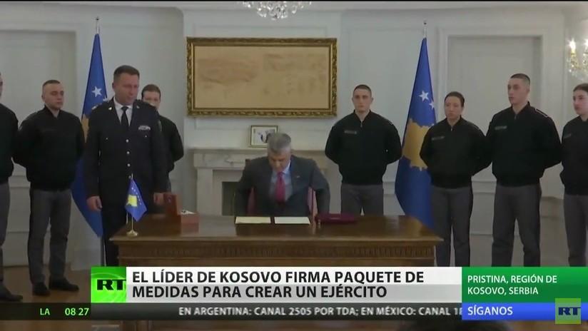 El líder de Kosovo firma un paquete de medidas para crear un Ejército