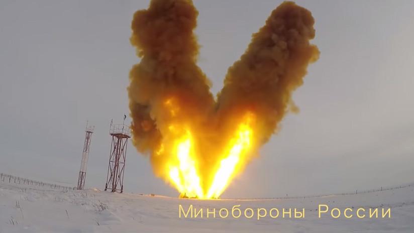 Publican un nuevo video del lanzamiento de prueba del misil hipersónico ruso Avangard