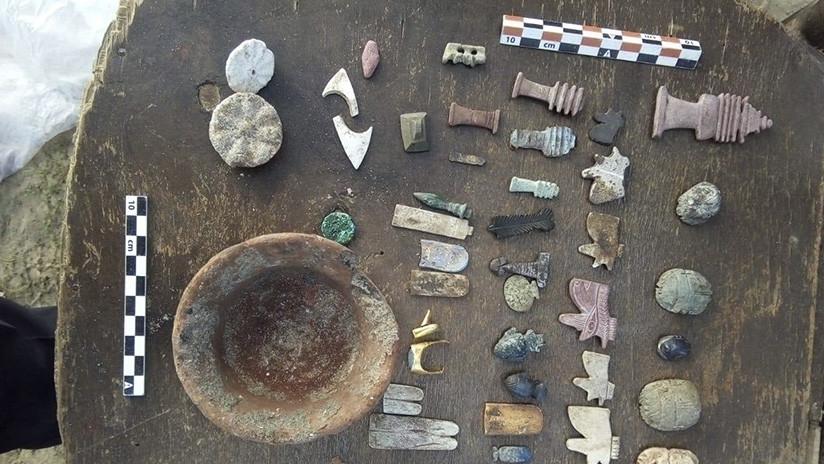 FOTOS: Encuentran varios sarcófagos del período romano de Egipto