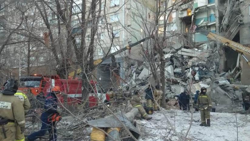 Varios muertos por el derrumbe parcial de un edificio residencial en Rusia (FOTOS, VIDEOS)