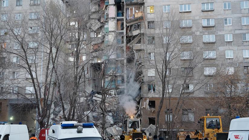 VIDEO: Momento de la explosión de gas en un edificio residencial en Rusia