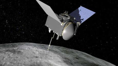 The artistic representation of NASA's Osiris-Rex spacecraft.