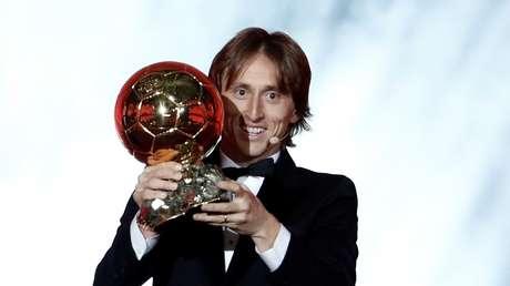 El futbolista croata Luka Modric, ganador del Balón de Oro 2018 en París (Francia), el 3 de diciembre de 2018.