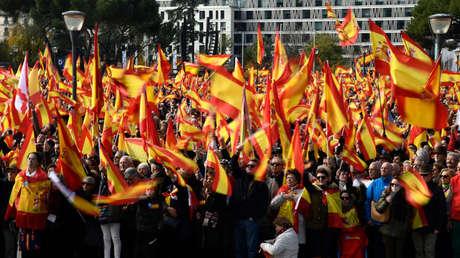 Manifestación convocada por VOX contra los separatistas catalanes. Madrid. 1 de diciembre de 2018.