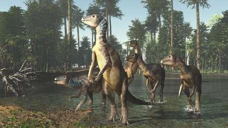Representación artística del Weewarrasaurus.