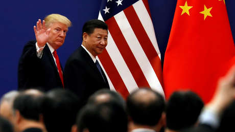 Donald Trump y Xi Jinping en Pekín, noviembre del 2017.