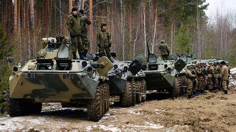 BTR-82 en ejercicios de esatdos del Traado de Seguridad Colectiva en la provincia rusa de Sverdlovsk, 2018.