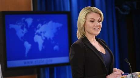 La portavoz del Departamento de Estado de EE.UU., Heather Nauert