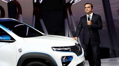 Carlos Ghosn durante la presentación del Renault K-ZE en París (Francia), el 1 de octubre de 2018.