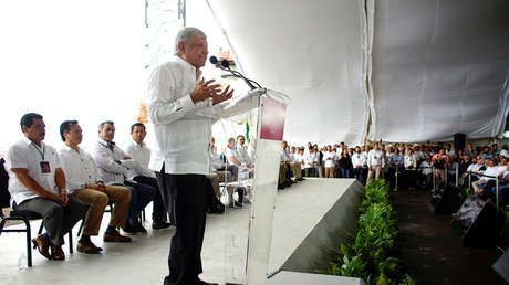 El presidente de México, Andrés Manuel López Obrador, durante el anuncio del plan de refinación de petróleo, Tabasco, México, 9 de diciembre de 2018.