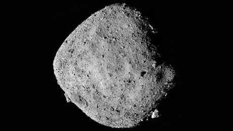 Una imagen del asteroide Bennu compuesta por 12 fotos. Fueron tomadas por la nave espacial OSIRIS-REx el pasado 2 de diciembre.