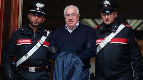 Settimo Mineo, supuesto jefe de la mafia siciliana Cosa Nostra arrestado en Palermo, Italia, el 4 de diciembre de 2018.