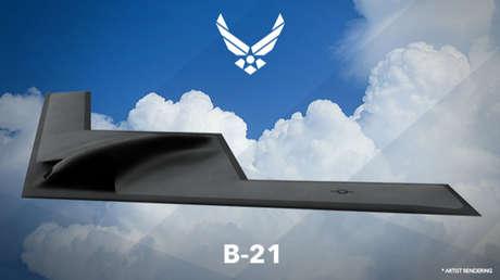 Representación artística del bombardero B-21 del Ejército de EE.UU.