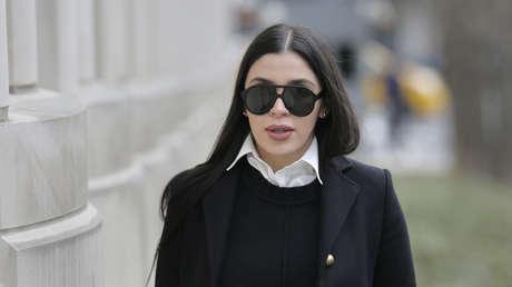 Emma Coronel Aispuro al llegar a la Corte Federal de Nueva York, EE.UU., 6 de diciembre de 2018.