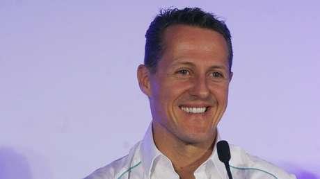 Michael Schumacher durante una rueda de prensa en Greater Noida, India, 25 de octubre de 2012.