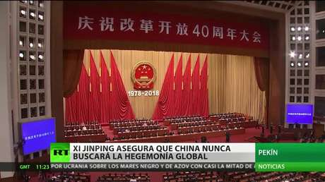Xi Jinping asegura que China nunca buscará la hegemonía global