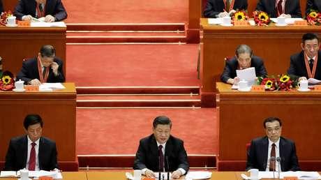 El presidente de China, Xi Jinping, durante su discurso en una reunión celebrada con motivo del 40.º aniversario de la reforma y apertura de China, el 18 de diciembre de 2018.