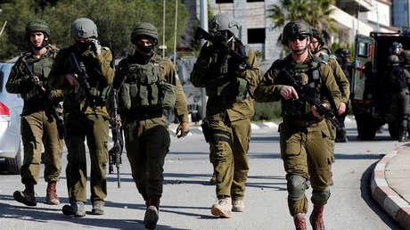 Soldados israelíes durante enfrentamientos este año en Ramala, Cisjordania (Palestina).