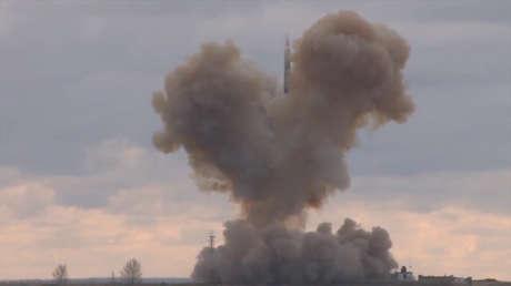 Lanzamiento de un misil ruso Avangard, el 19 de julio de 2018.