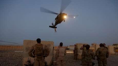 Militares de EE.UU. participan en un ejercicio en la provincia de Helmand, Afganistán, el 6 de julio de 2017