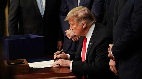 El presidente de EE.UU., Donald Trump, Washington 20 de diciembre de 2018.