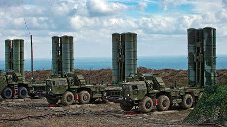Sistema de misiles antiaéreos S-400 Triumf. Imagen ilustrativa