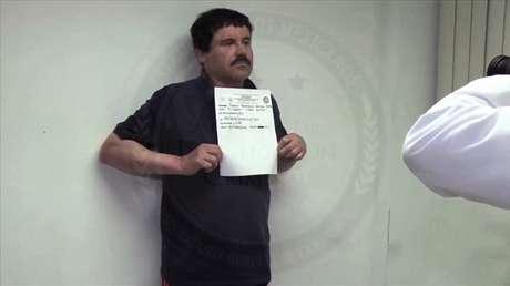 El narcotraficante Joaquín 'El Chapo' Guzmán en la prisión mexicana de El Altiplano, Almoloya de Juárez, 27 de enero de 2016.