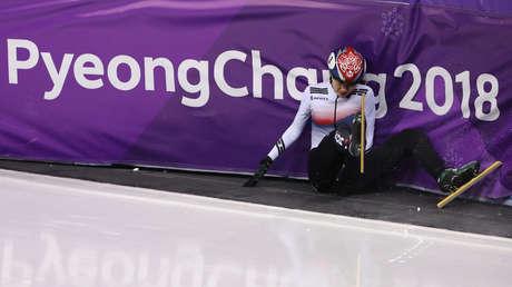 La patinadora surcoreana Shim Suk-hee durante los Juegos Olímpicos de Pyeongchang 2018.