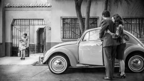Una escena de la película filmada en la colonia Roma de la Ciudad de México.