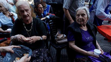 Jubilados protestan contra la Reforma Previsional en Argentina, 20 de diciembre de 2017